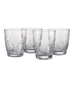 Another great find on #zulily! Artland Shell Double Old Fashioned Glass - Set of Four by Artland #zulilyfinds