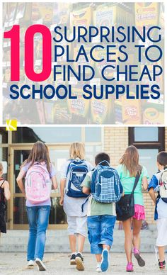 10 Surprising Places to Find Cheap School Supplies