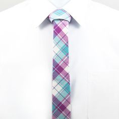 Skinny Tie Plaid Purple, $32, now featured on Fab.