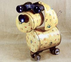 CLOSEOUT ITEM BLONDIE Robot Dog Sculpture by reclaim2fame- Oooh, she's so cute...I want her.