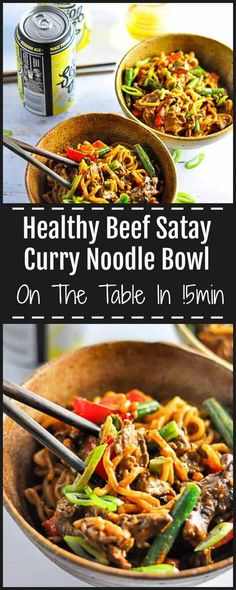 This Beef Satay Curry Noodles has tender pieces of flavoursome meat covered in rich peanut sauce with lightly stirfried vegetables and silky noodles. via @https://au.pinterest.com/sugarfreekitc/my-sugar-free-kitchen-on-the-blog/