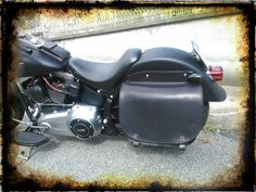 Borsa in cuoio per Softail Leather bag for Harley Softail
