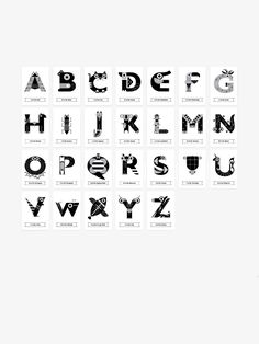 Black And White HighContrast Alphabet Letters Designed To Engage