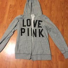 Zip up hoodie vs pink Full zip up hoodie. Barely wore in great condition. PINK Victoria's Secret Jackets & Coats