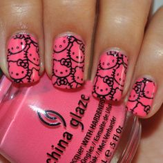 Fancy Hello Kitty Nail Art