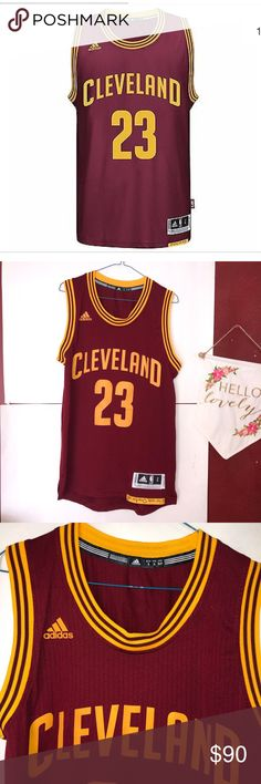 27ae0a11874 Cavaliers Lebron James Adidas Jersey MENS small LIKE NEW ! NBA Cleveland  Cavaliers Lebron James Adidas