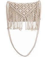 Boutique Negro Diamante ganchillo bolsa de Fringe