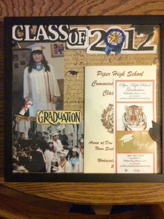 Scrapbook Album Frame Idea - Capture a memory forever or use the idea to create a friends or family frame.  I did this one for my daughter, Lindsay when she graduated high school.