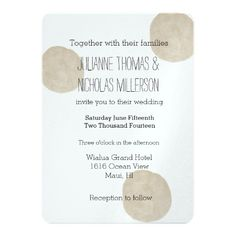 Gold Watercolor Dots Wedding 5 X 7 Invitation Card