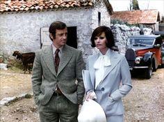 """Claudia Cardinale and Jean-Paul Belmondo in """"La scoumoune"""" (1972"""
