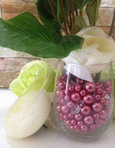 Mauve Rose Pink Pearls Diamonds & Pearls Confetti No Hole