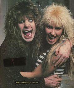 Ozzy Osbourne and Lita Ford............