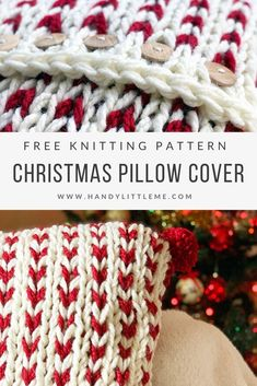 This chunky knit pillow cover makes it easy for you to create Christmas pillow covers that knit up fast on big needles! Knit up a few in time for Christmas and add pom poms! Knitting For BeginnersCrochet For BeginnersCrochet PatternsCrochet Bag Chunky Knit Throw, Chunky Crochet, Chunky Knits, Knit Crochet, Christmas Pillow Covers, Quick Knits, Christmas Knitting Patterns, Crochet Pillow, Plush Pillow