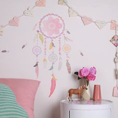 Dream Catcher  Fabric Wall Decal reusable NO PVC by LoveMaeStore, $45.00
