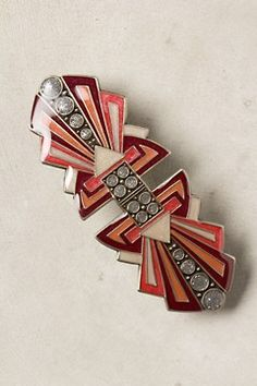 Sky-Sent Barrette, so deco Bijoux Art Deco, Art Deco Jewelry, Jewelry Gifts, Vintage Jewelry, Jewellery, Art Nouveau, Art Deco Tattoo, Bohemia Jewelry, Mode Vintage