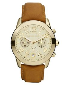 Michael Kors Watch, Womens Chronograph Luggage Brown Leather Strap 41mm MK2251 http://uggcheapshop.com cheap ugg boots for Christmas gifts. lowest price. must have!!!
