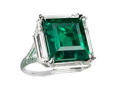 BOGH-ART Colombian emerald and diamond ring