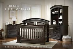 Baby Appleseed 4 Piece Nursery Set - Chelmsford 3-in-1 Convertible Crib…