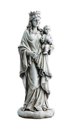 Madonna Queen of Heaven with Jesus Garden Statue