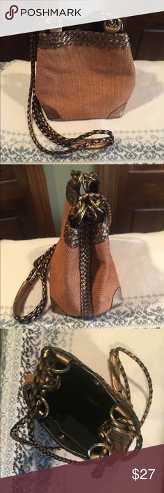 L.J.S Collection Crossbody Purse This cross body is adorable & classy! Great for casual or dressy! Brown with gold colored trim. L.J.S Collection Bags Crossbody Bags