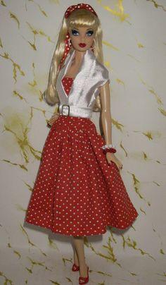 Barbie Hello Kitty Dress Up Dolls, Barbie Dress, Barbie Clothes, Doll Dresses, Moda Barbie, Crochet Barbie Patterns, Vintage Outfits, Vintage Fashion, Barbie Model