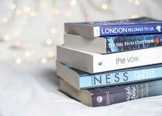 Bookstagram staples: white bedsheets and fairy lights
