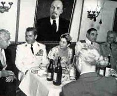 Mohammad Reza Shah and Empress Soraya on a state visit to the Soviet Union (year?).
