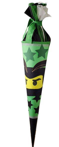 Schultüte basteln für Jungen Anleitung Ninjago, Einschulung