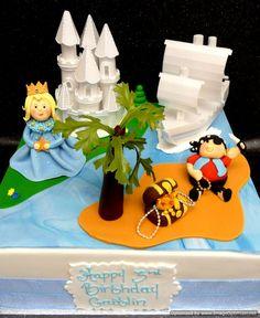 Pirate And Princess Cake cakepins.com