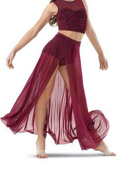 High Waisted Mesh Maxi Skirt and Brief in BLACK CHERRY   Balera™ ... $31.95