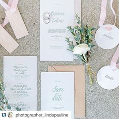 Wedding invite by Pretty Paper  Gorgeous combination! Our type collection styled and photographed by talented  @photographer_lindapauline Flowers by @lindasblomsterbod & gorgeous rings handmade by @madelenelodin  #lindapaulineworkshops #weddinginvitation #weddingstationery #brollopsinbjudan #bröllopsinbjudan #savethedate #prettypaper