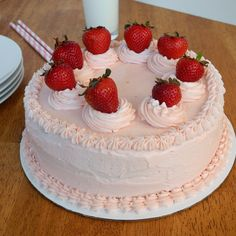 Southern Strawberry Cake for my Dads Birthday - From Calculu∫ to Cupcake∫