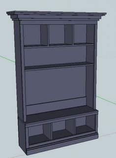 I want to make this! DIY Furniture Plan from Ana-White.com Remove middle shelf, add hooks- hall tree!