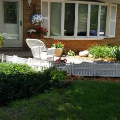 Curb Appeal Idea: A Little White Fence