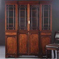 Klein Engels mahoniehouten boekenkastje. | Antieke boekenkast ...