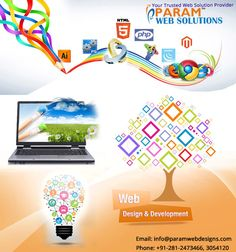 Modify your #web presence with our creative ideas and make your #website more interactive and user-friendly www.paramwebdesigns.com