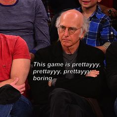Larry David At A Basketball Game Is SO Larry David