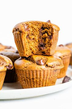 Healthy Pumpkin Muffins | Eating Bird Food Gluten Free Muffins, Healthy Muffins, Gluten Free Baking, Mini Chocolate Chip Muffins, Mini Muffins, Flourless Muffins, Pumpkin Spice Muffins, Low Carb Bread, Fall Baking