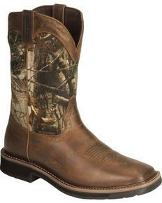 Justin Gypsy Womens Square Toe Cowboy Boots Camo Brown