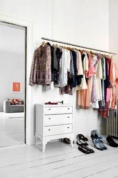 öppen garderob