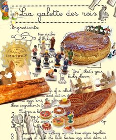 Day 1:   La Galette des Rois. Epiphany, Three King's Festival, celebrated with this delicious-almondy galette.  If you get a fève in your slice, you are crowned queen or king. Dnner with Andrea and Celine. By Carole MacKenzie