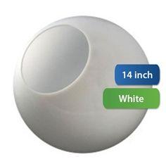 Don't miss this! -  14-Дюймовый Пластиковый Глобус Ожерелье Открытие Белый Акрил