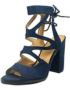 21d0afc1003ef1 online shopping for BETANI Womens Open Toe Block Heel