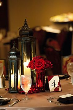 Custom table number with rhinestone buckle photography by http://www.danagoodson.com/
