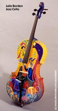 Beautiful painted violin.