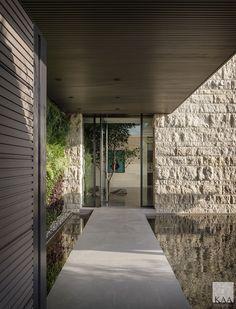 Light Architecture, Contemporary Architecture, Landscape Architecture, Interior Architecture, Entry Gates, Entry Hall, Glass Front Door, Sliding Glass Door, Wood Staircase