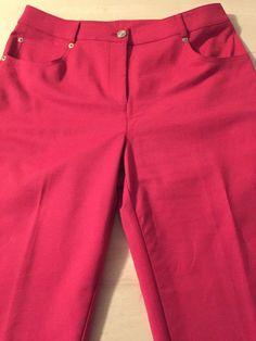 St John Luxurious Red Straight Leg Stretch Women's Casual Pants Sz 6 x 29 Mint   eBay