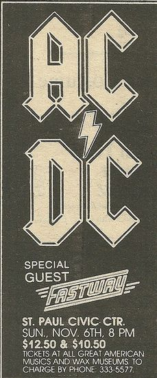 1983/11/06 - USA, Minnéapolis, Saint Paul Civic Center | Highway To ACDC : le site francophone sur AC/DC