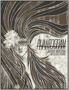 Phantogram's gig poster from Sasquatch Festival 2010