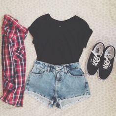 shirt- forever21 5.00$ shorts- forever21 10$ flannel- forever21 12$ vans- pacsun/vans 55$/50$ enjoy :)))